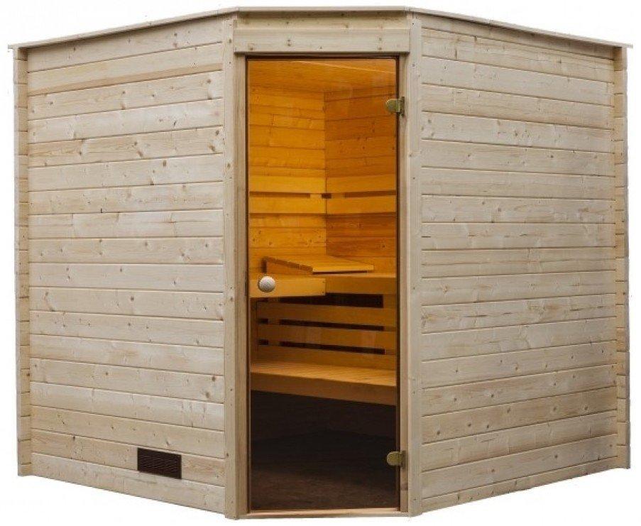 Afbeelding van Rhodos Binnen Sauna Hoekmodel 215 x 215