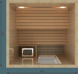 Afbeelding van VSB Finse Sauna, Balance 165 x 155