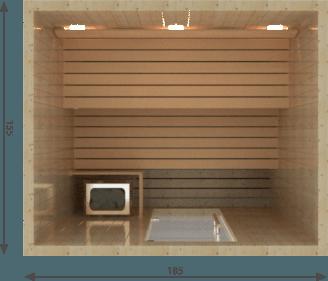 Afbeelding van VSB Finse Sauna, Balance 185 x 155