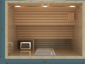 Afbeelding van VSB Finse Sauna, Balance 210 x 155