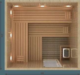 Afbeelding van VSB Finse Sauna, Prestige 225 x 210