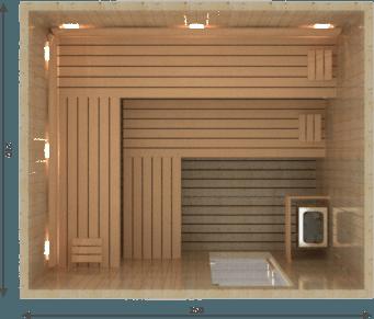 Afbeelding van VSB Finse Sauna, Prestige 250 x 210