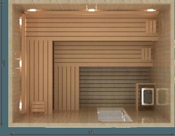 Afbeelding van VSB Finse Sauna, Royal 275 x 210