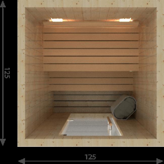 Afbeelding van Zelfbouw Sauna 250 x 200 x 195 cm