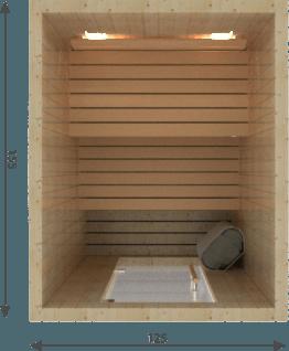 Afbeelding van VSB Finse Sauna, Steady 125 x 155