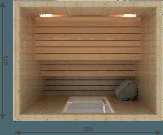 Afbeelding van VSB Finse Sauna, Steady 155 x 125