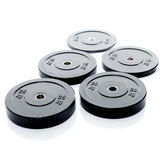 Afbeelding van Burn Gear Hi-temp Bumperplates zwart 5 tot 25 kg