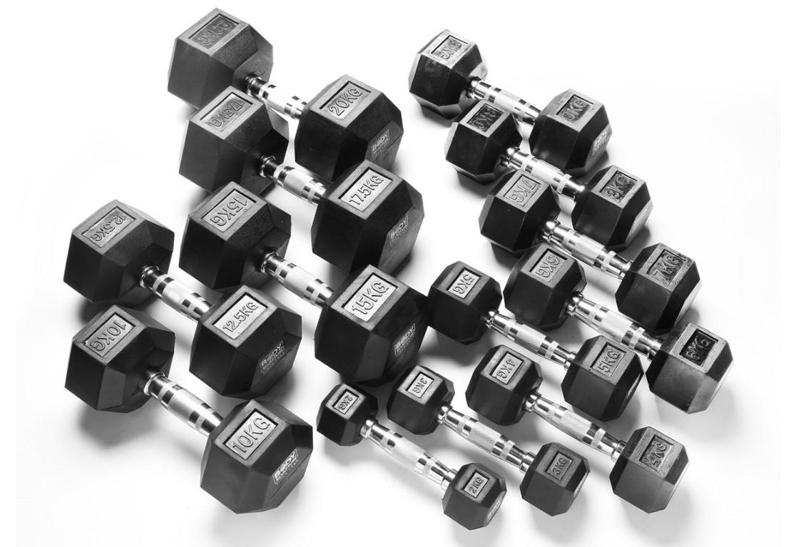 Afbeelding van Burn Gear HEXA voordeel dumbbell set 12.5 T/M 20 kg