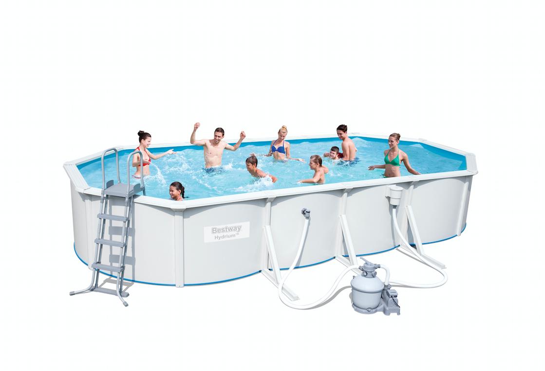 Afbeelding van Bestway Hydrium Stalen Zwembad Ovaal 610 x 360 x 120cm