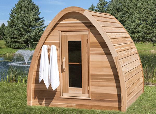 Afbeelding van Dundalk Sauna Pod Knotty Red Cedar 214 x 214 cm