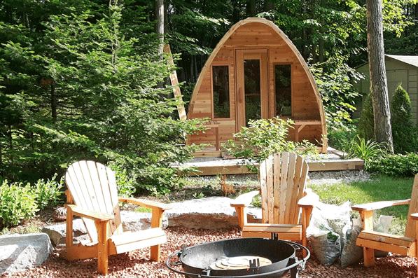 Afbeelding van Dundalk Sauna Pod Knotty Red Cedar 244 x 182 cm