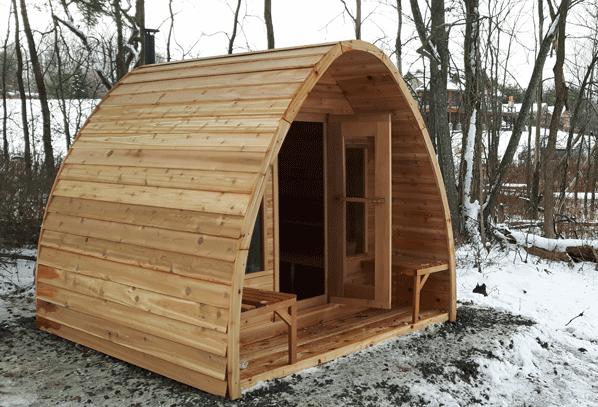 Afbeelding van Dundalk Sauna Pod Clear Red Cedar 244 x 182 cm