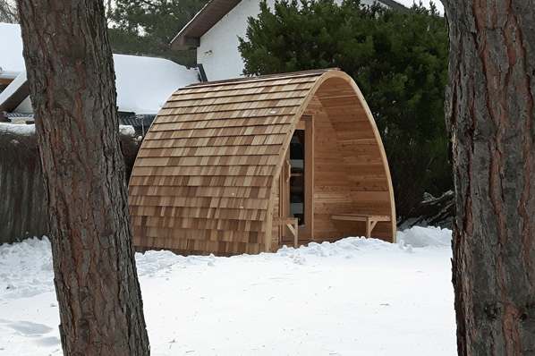 Afbeelding van Dundalk Sauna Pod Knotty Red Cedar 244 x 244 cm