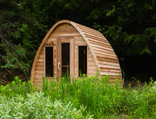 Afbeelding van Dundalk Sauna Pod Clear Red Cedar PS214