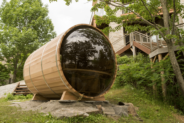 Afbeelding van Dundalk Barrel Sauna 214 x 244 Clear Red Cedar