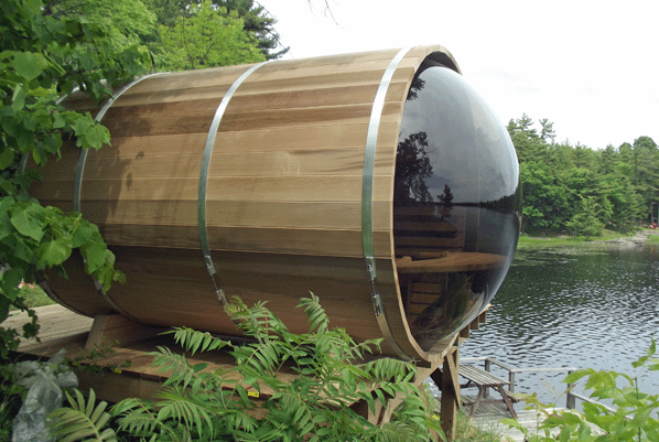 Afbeelding van Dundalk Barrel Sauna 188 x 244 Clear Red Cedar