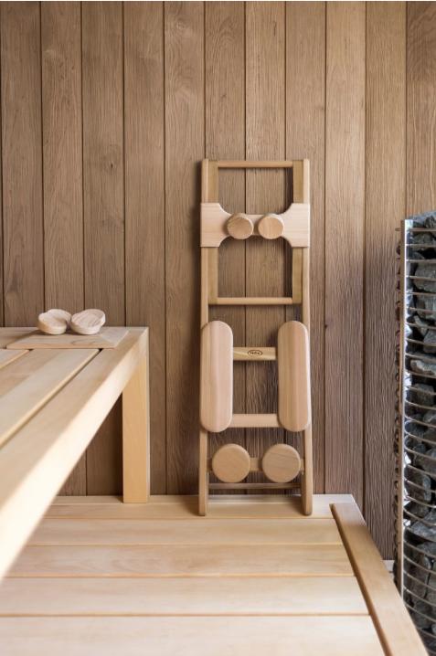 Afbeelding van HaLu Rugsteun sauna Backrest Espen met Hoofdsteun