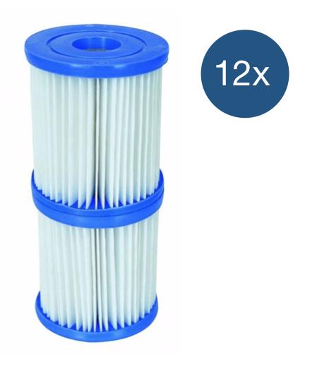 Afbeelding van Bestway Filter Type 1 - voordeelverpakking (12 stuks)