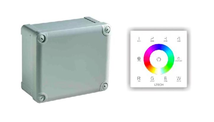 Afbeelding van RGBW LED Controller met DMX Touch bediening (150W | 24V)