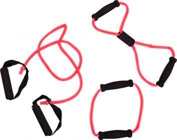 Afbeelding van Tunturi Tubing Set met Handgrepen Rood