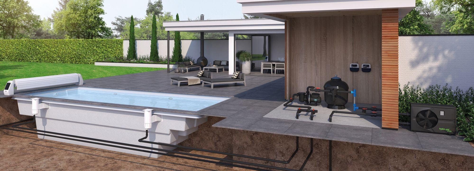 Norsup montecito m zwembad kopen rhodos shop for Polyester zwembad plaatsen