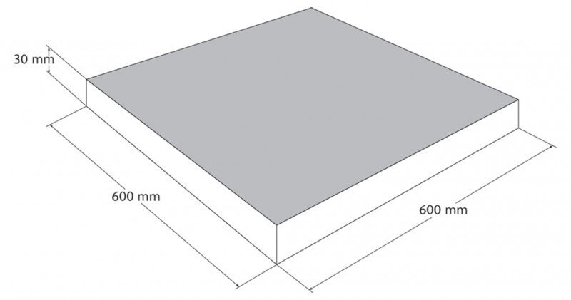 Natura - straatsteen 60 x 60 cm